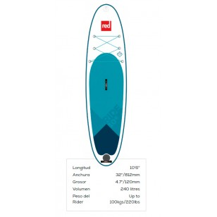 Red paddleco 10'6'' Ride 2019